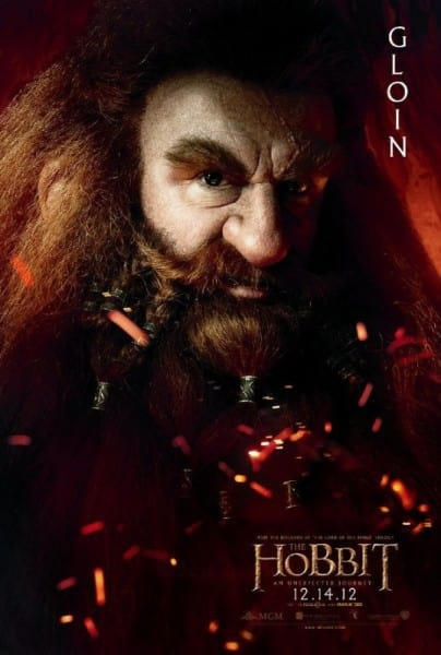 The Hobbit Gloin Poster