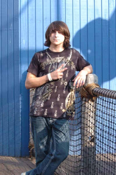 Mitchel Musso on Set