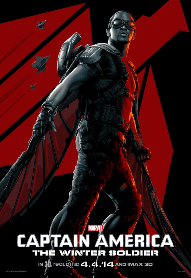 Captain America The Winter Soldier IMAX Anthony Mackie Poster