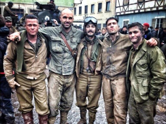 Brad Pitt and the Cast of Fury