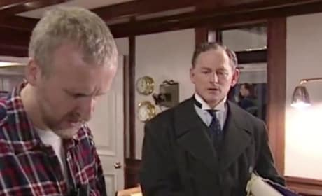 Victor Garber and James Cameron on Titanic