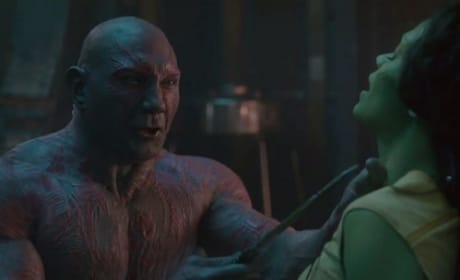 Guardians of the Galaxy Dave Bautista Zoe Saldana