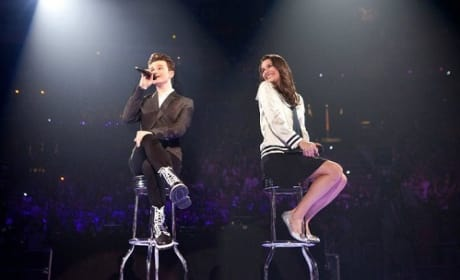 Glee 3D Concert Movie Lea Michele Chris Colfer