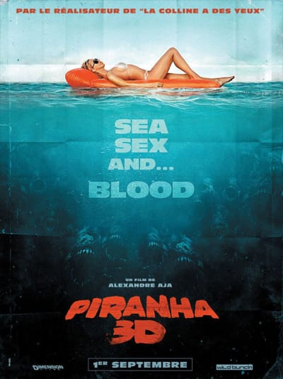 Piranha 3D French Poster