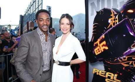 Anthony Mackie and Evangaline Lilly at Real Steel Premiere