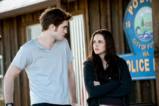 Edward and Bella at the Police Station