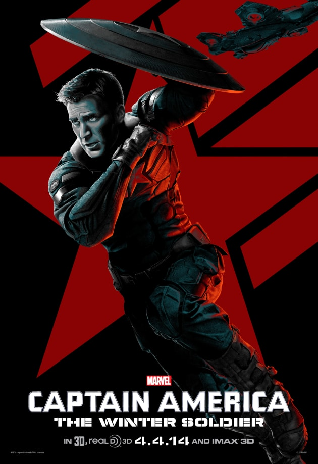 Captain America The Winter Soldier IMAX Chris Evans Poster