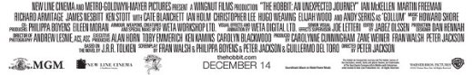 The Hobbit Credits