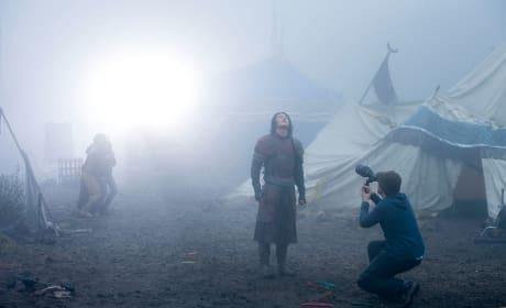 Dracula Untold Set Luke Evans