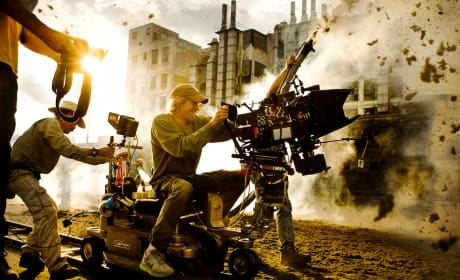 Transformers Age of Extinction: Michael Bay Posts Explosive Photo