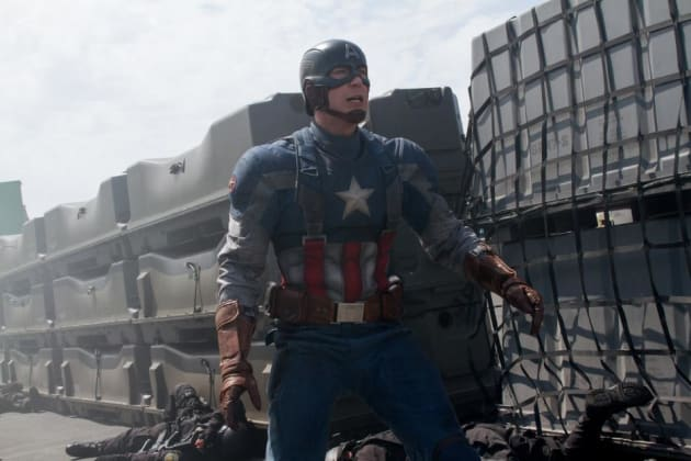 Chris Evans is Captain Ameirca in The Winter Soldier