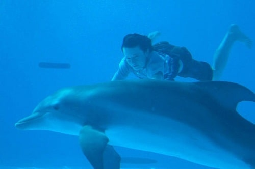 Nathan Gamble and Winter in Dolphin Tale