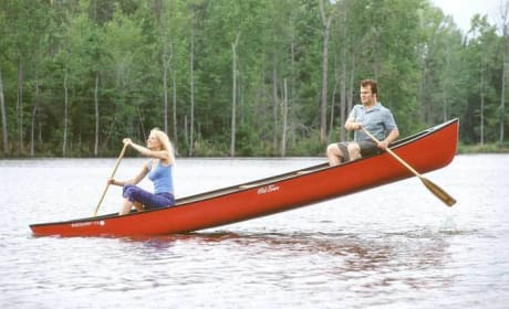 Hal and Rosemary Canoeing