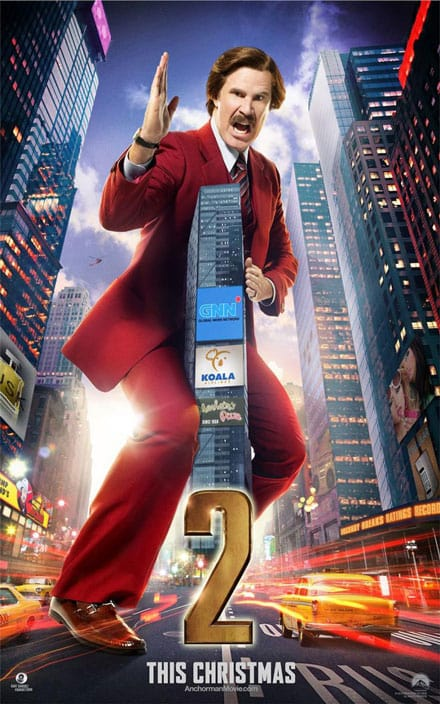 Anchorman 2 Ron Burgundy Poster