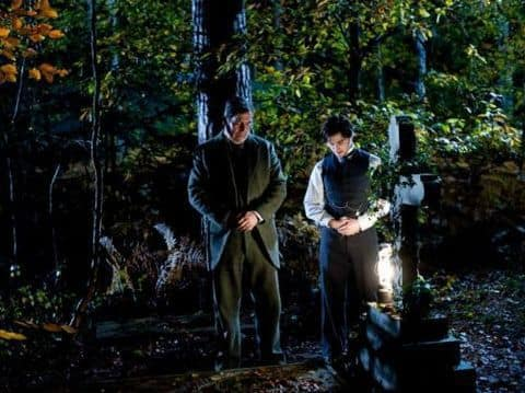Daniel Radcliffe and Cirian Hinds in Woman in Black