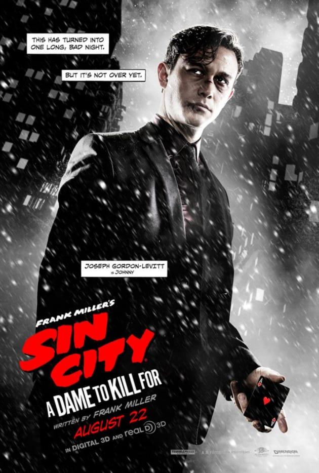 Sin City A Dame to Kill For Joseph Gordon Levitt Character Poster