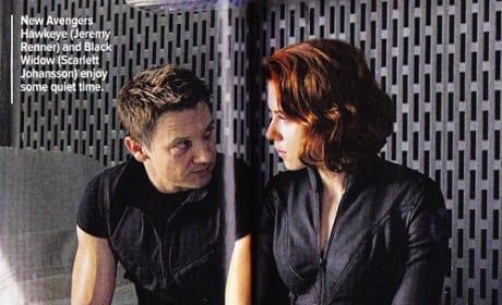 Scarlett Johnasson and Jeremy Renner in The Avengers
