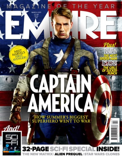 Captain America on Empire Cover