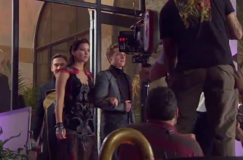 Jennifer Lawrence on Catching Fire Set