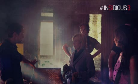Insidious Chapter 3 Set Photo Lin Shaye Leigh Whannell