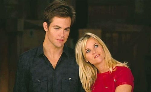 Reese Witherspoon and Chris Pine in This Means War