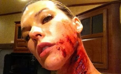 Milla Jovovich Twitter Photo from Resident Evil: Retribution