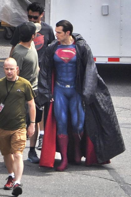 Henry Cavill as Superman on the Set!