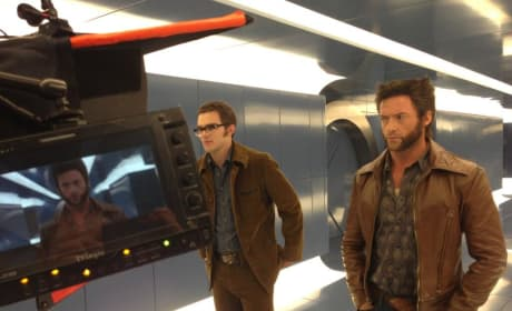 X-Men: Days of Future Past Set Photo Stars Nicholas Hoult and Hugh Jackman