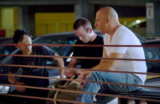 James Wan Vin Diesel Fast and Furious Set Photo