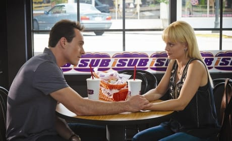 Mena Suvari and Chris Klein in American Reunion