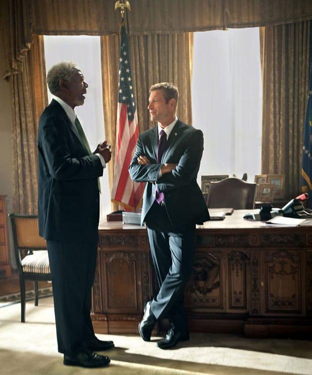 Morgan Freeman Aaron Eckhart Olympus Has Fallen