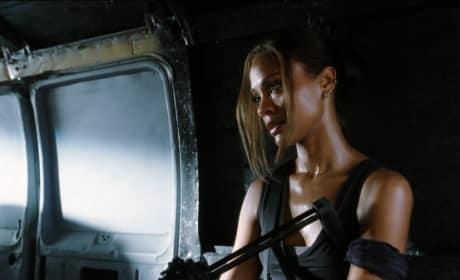 Aisha in a Van