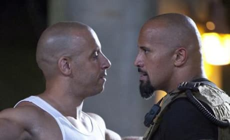Vin Diesel and Dwayne Johnson Face Off in the First Official Photo from Fast Five