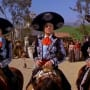 Martin Short, Steve Martin and Chevy Chase in The Three Amigos