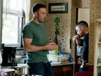 Affleck and Renner in the Kitchen