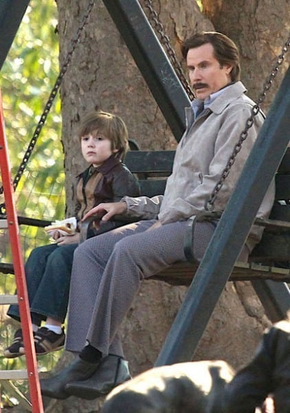 Will Ferrell Anchorman The Legend Continues Set Photo