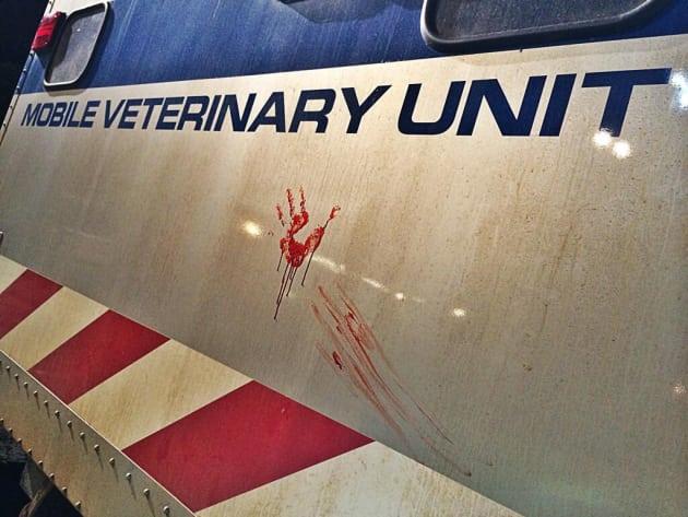 Jurassic World Bloody Set Shot