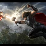Thor vs. Iron Man Avengers Concept Art