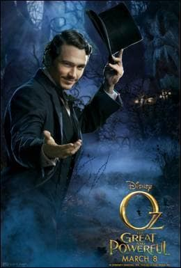 Oz The Great and Powerful James Franco Poster