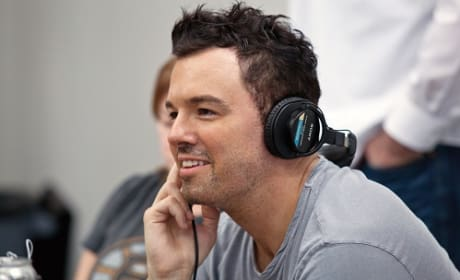 Seth MacFarlane in the Set of Ted