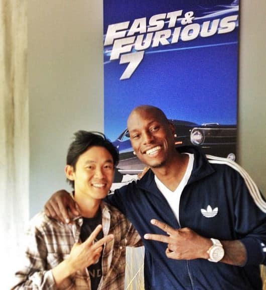 James Wan and Tyrese Gibson Fast and Furious 7 Photo