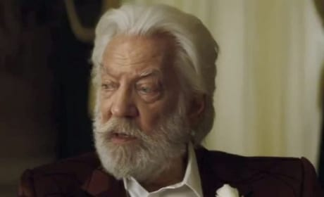 Catching Fire Donald Sutherland is President Snow