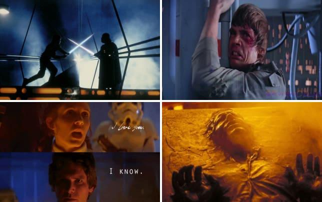 Empire strikes back luke fights darth vader