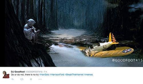 Harrison Ford Plane Crash Yoda