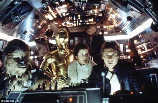 Star Wars Cast in Millenium Falcon