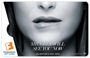 Fifty Shades of Grey Fandango Dakota Johnson Gift Card