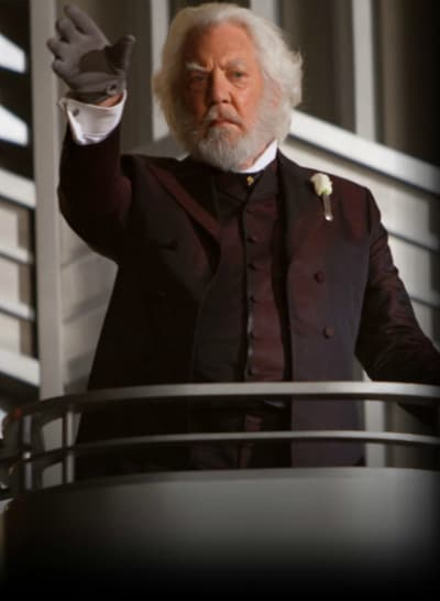 Donald Sutherland is President Snow