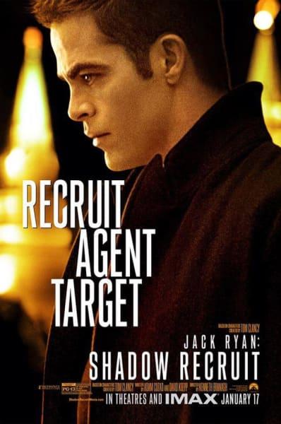 Jack Ryan Shadow Recruit Chris Pine Poster