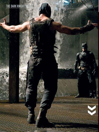 Bane and Batman in The Dark Knight Rises
