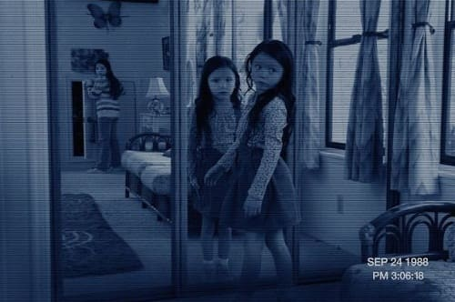 Katie and Kristi in Paranormal Activity 3
